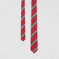 Classic Cut Striped Silk Jacquard Tie