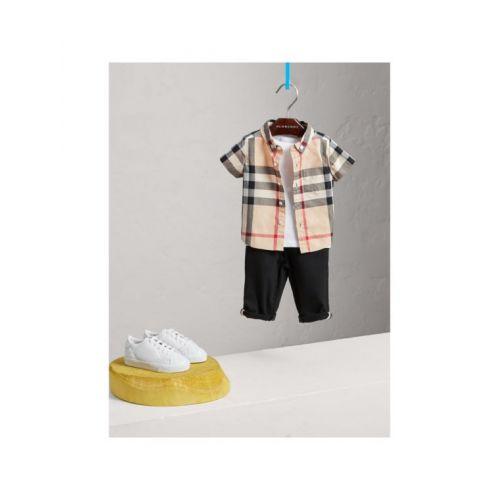 버버리 버버리 베이비 Burberry Kids Check Cotton Twill Shirt