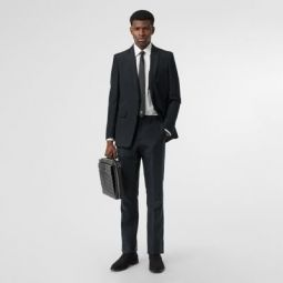 Classic Fit Mohair Linen Silk Tailored Trousers