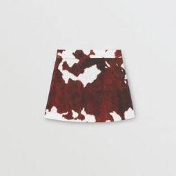 Cow Print Twill Skirt