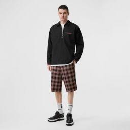 Pocket Detail Check Wool Tailored Shorts