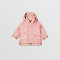 Detachable Hood Diamond Quilted Jacket