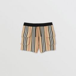 Icon Stripe Cotton Drawcord Shorts
