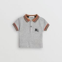 Icon Stripe Detail Cotton Polo Shirt