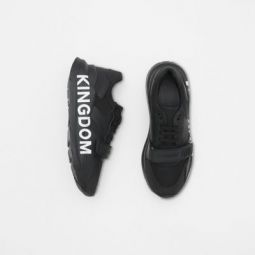 Kingdom Print Neoprene and Leather Sneakers