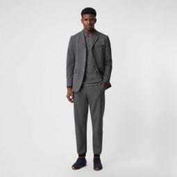 Stripe Detail Stretch Wool Neoprene Trackpants