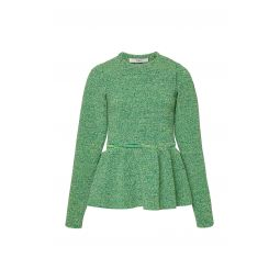 Peplum Tweedy Sweater