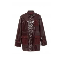 Faux Patent Leather Jacket
