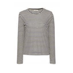 Striped Silk-Blend Top