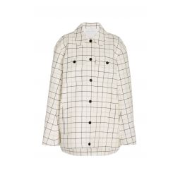 Oversized Checked Twill Top