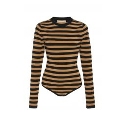Striped Stretch-Jersey Bodysuit