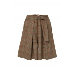 James Menswear Check Pleated Shorts