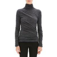 Twisted Turtleneck Alpaca Sweater