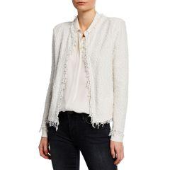 Shavani Open-Front Boucle Jacket