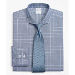 Stretch Regent Fitted Dress Shirt, Non-Iron Royal Oxford Glen Plaid