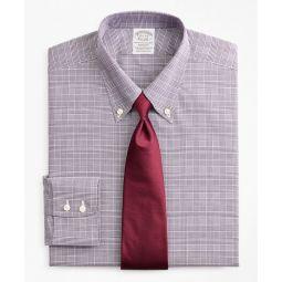Stretch Soho Extra-Slim-Fit Dress Shirt, Non-Iron Royal Oxford Button-Down Collar Glen Plaid