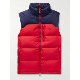 Colour-Block Quilted Padded Shell Down Gilet