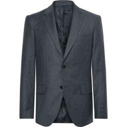 Navy Slim-Fit Wool-Flannel Suit Jacket
