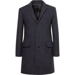 Slim-Fit Checked Wool-Blend Coat