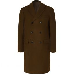 Double-Breasted Wool-Blend Overcoat