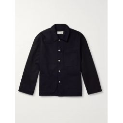 Indigo-Dyed Herringbone Denim Overshirt