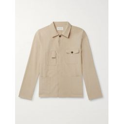 Camp-Collar Linen and Cotton-Blend Overshirt