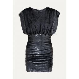 Miracle sequined stretch-jersey mini dress