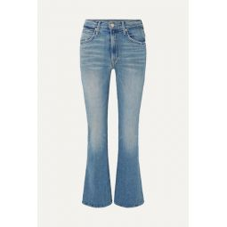 Desperado distressed high-rise flared jeans