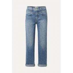 Double Yoke high-rise straight-leg jeans