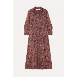 Maddie printed chiffon robe and mini dress