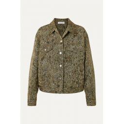 Empathy leopard-print linen-blend jacket