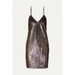 Noret sequined crepe mini dress