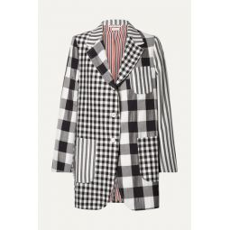 Oversized printed wool, mohair and silk-blend blazer