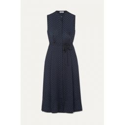 Clevete polka-dot crepe midi dress