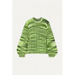 Neon m챕lange ribbed-knit sweater
