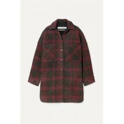 Zunky oversized checked flannel jacket