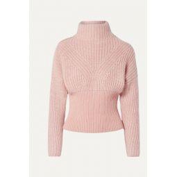 Medford ribbed cotton-blend turtleneck sweater