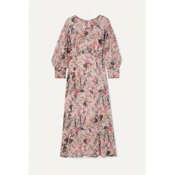 Norma floral-print crepon midi dress