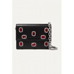 Jewel small crystal-embellished leather shoulder bag
