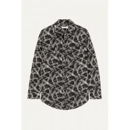 Signature printed silk shirt