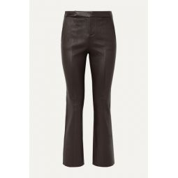 Sebritte cropped leather flared pants