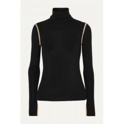 Mourelle ribbed wool turtleneck sweater