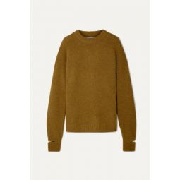 Airy oversized alpaca-blend sweater