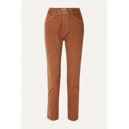 50s Cigarette high-rise straight-leg jeans