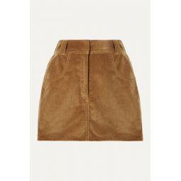 90s Ultra High Rise Western Pocket cotton-corduroy mini skirt