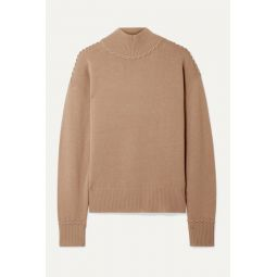 Whipstitched cashmere turtleneck sweater