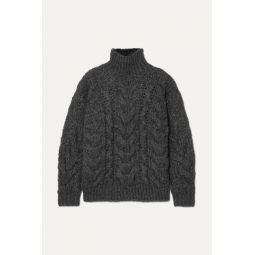 Sirah oversized cable-knit turtleneck sweater