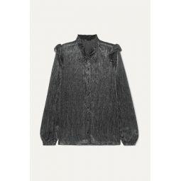 Clunny ruffled lam챕 blouse