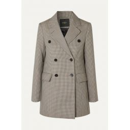 Goldi double-breasted houndstooth tweed blazer