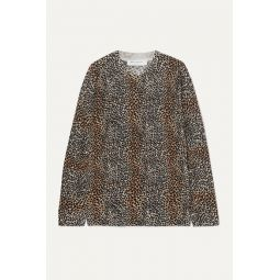 Raydon leopard-print wool sweater